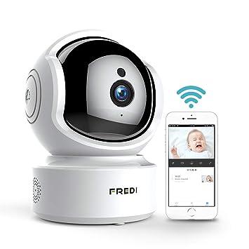 FREDI Caméra De Surveillance HD 1080P WiFi Sans Fil Intérieur Cloud IP  Camera Sécurité Avec Vision