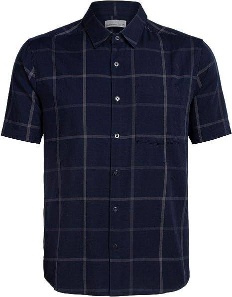 Icebreaker Compass SS - Camisa para Hombre, Color Azul Marino y Gris Oscuro, tamaño Extra-Large: Amazon.es: Deportes y aire libre