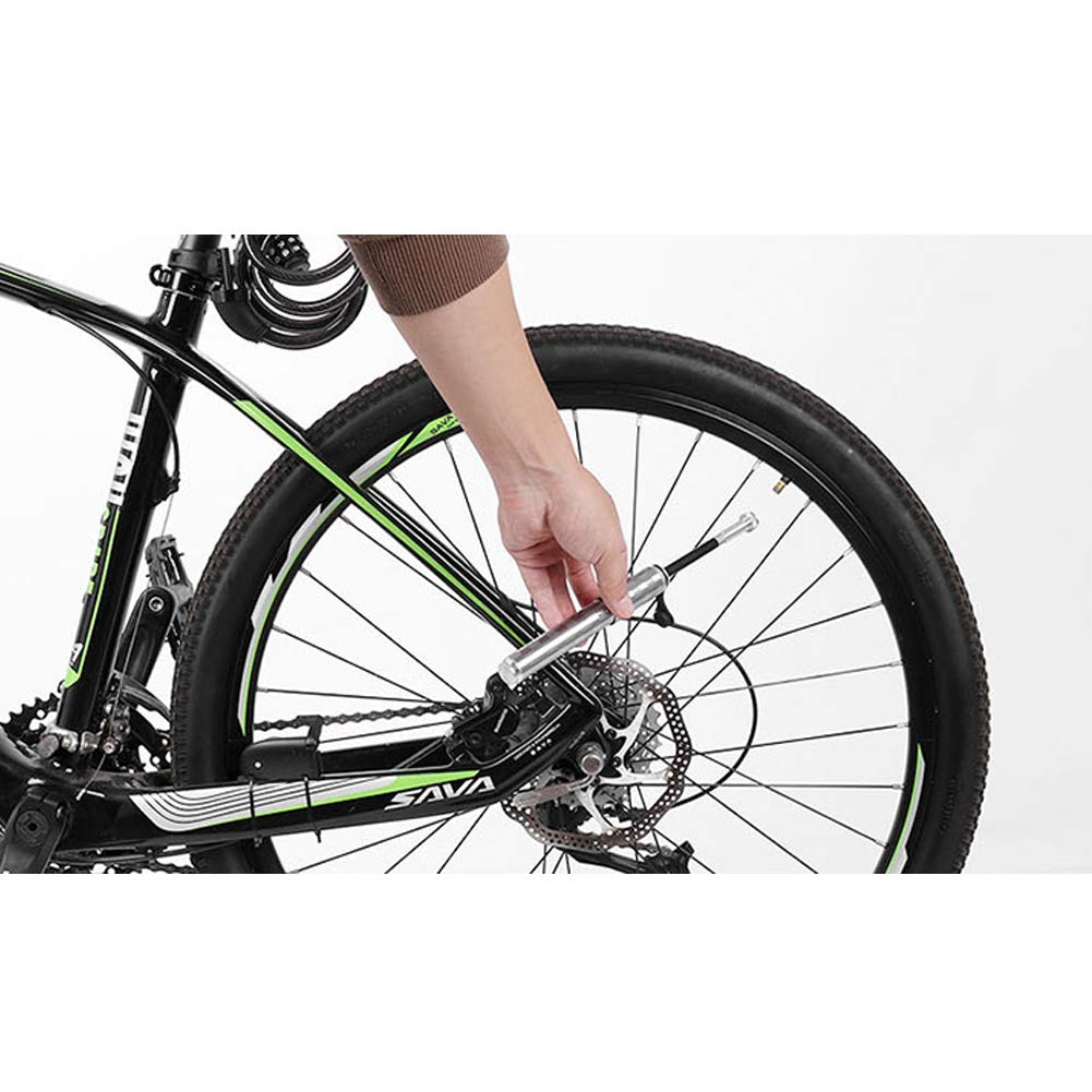 Nai-Style Inflador Mini Bomba de Bicicleta Bomba de Aire port/átil Presta Schrader V/álvula Universal MTB Bomba de Ciclo del neum/ático
