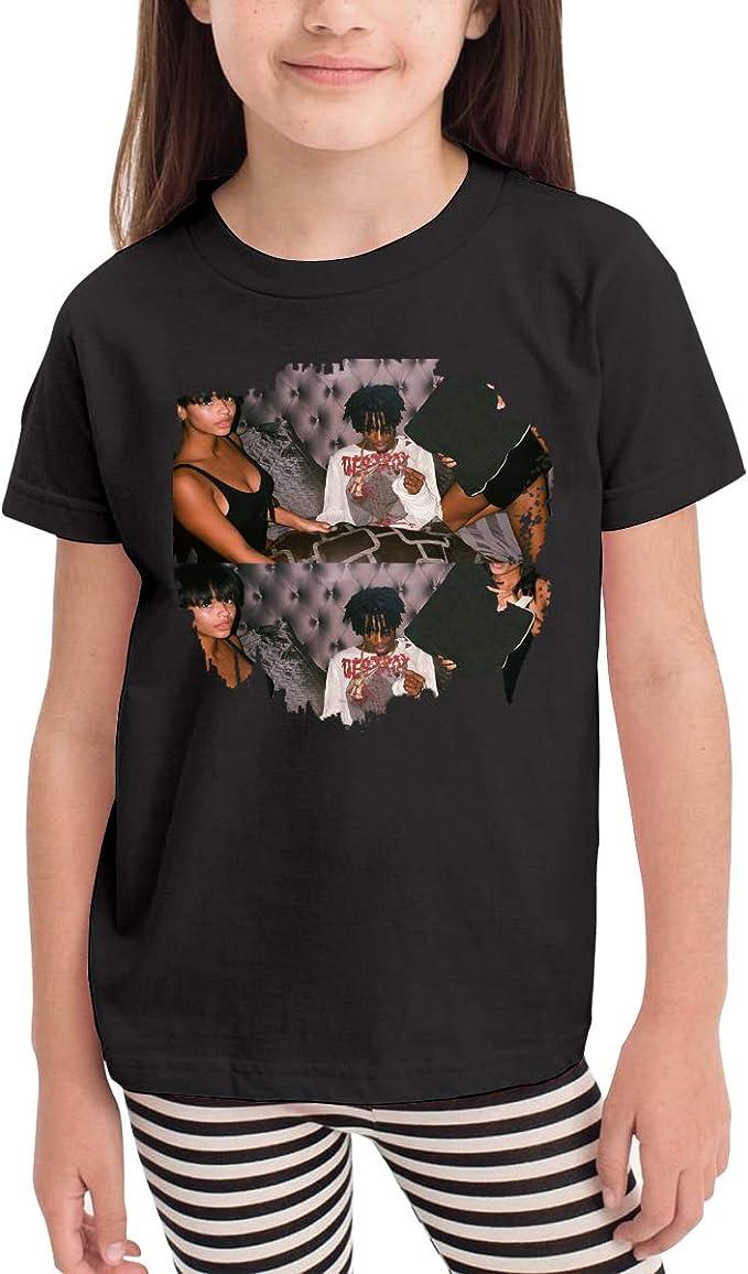 WYeter Jennifer Lopez Infant Kids Cute Short Sleeve T-Shirt Black