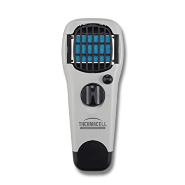 Thermacell MR150 Portable Mosquito Repeller, Gray; DEET-Free, Scent-Free, Mess-Free Mosquito Repellent; 15 Foot Protection Zone with Fuel Cartridge and 3 Repellent Mats Provides 12 Hours of Relief