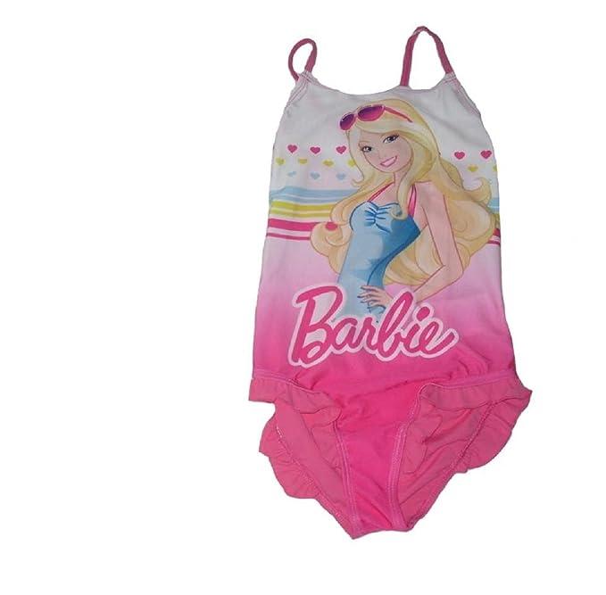 d942c35c6dab Barbie - Costume intero - ragazza white & pink 9-10 Anni: Amazon.it ...