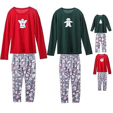 7f68598d48 Weihnachten Familie Pyjamas Outfit Schlafanzug Nachtwäsche Damen Herren  Baby Säugling Family Kleidung Zuhause Matching set Xmas, Kinder  Weihnachtsmann ...