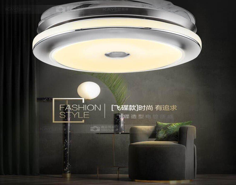 Invisible lámpara ventilador, ventilador de techo, sala, comedor, dormitorio, Casa minimalista moderno ventilador eléctrico LED lámpara colgante,control de pared OVNI