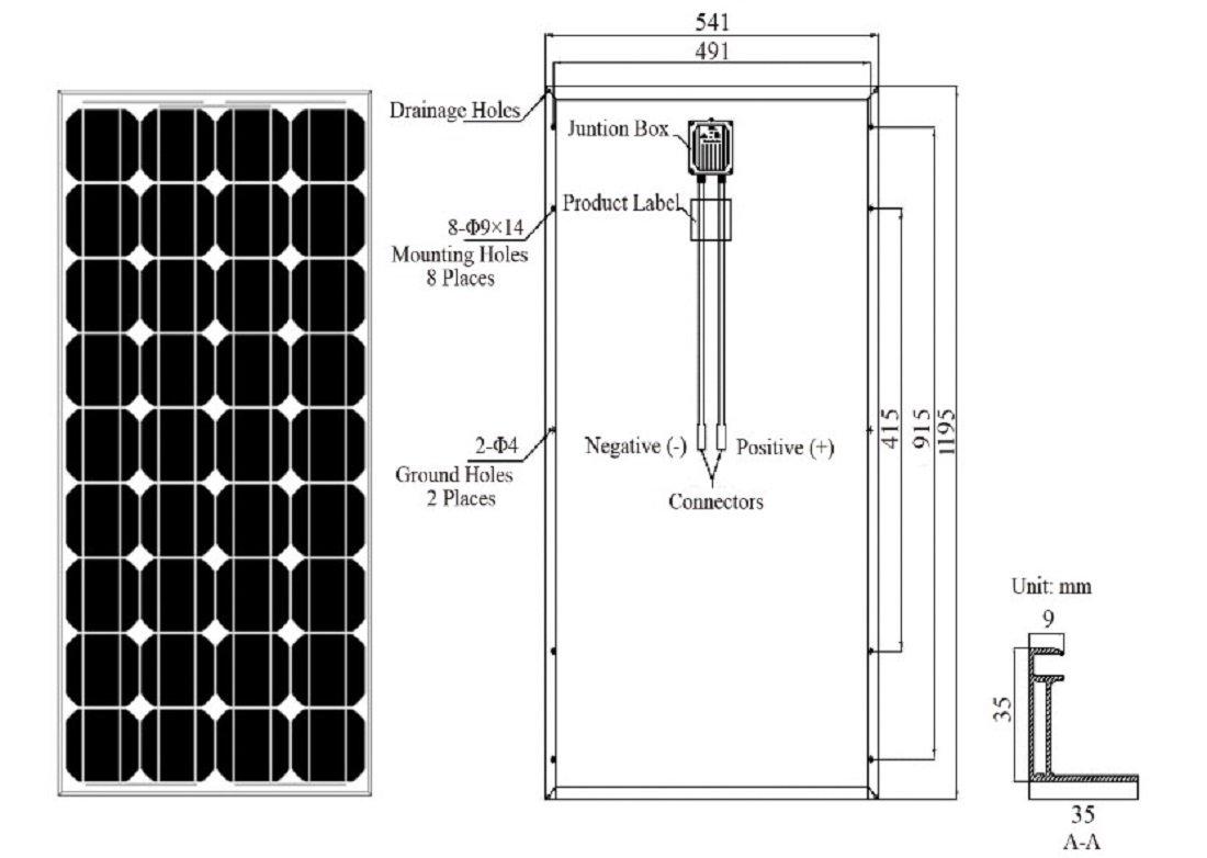 amazon com renogy 4 piece 100w monocrystalline photovoltaic pv 100w 12v rv solar  wiring diagram amazon