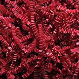 2 Pound Crinkle Cut Paper Shred - Red