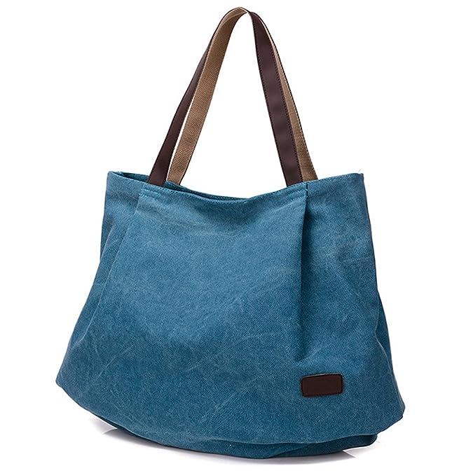 Hiigoo Women's Casual Handbag Big Shoppingbags Bucket Canvas Shoulder Bags by Hiigoo