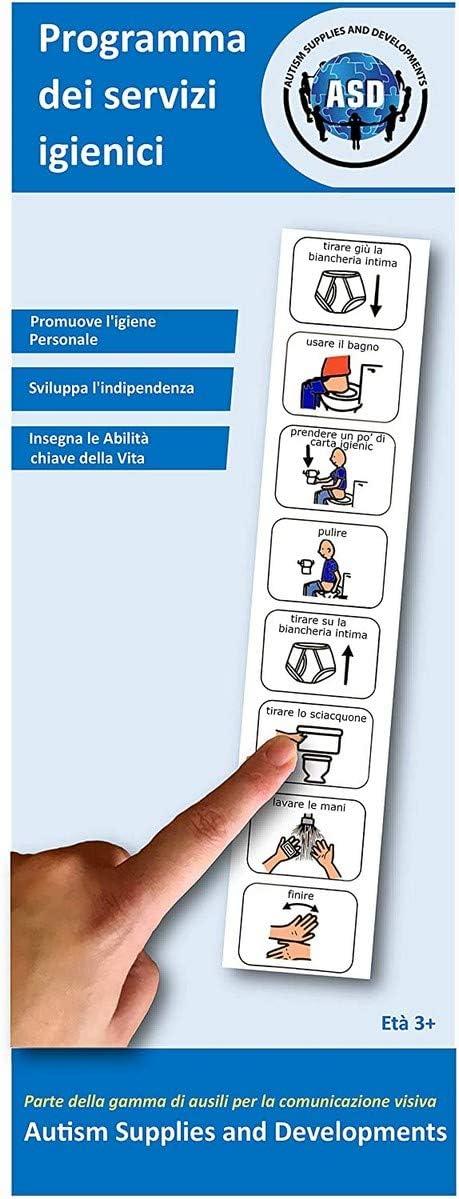 Franc/és Autism Supplies and Developments Toi/_Fr Color Azul Autism Supplies /& Developments- Calendario de Inodoro Visual de Pl/ástico