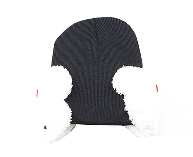 MEYKISS Infant Knit Beanie Cute Bunny Rabbit Winter Snowboarding Hat 1 Black 2e6a4af1044