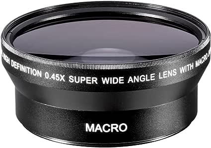 Neewer® - Objetivo de gran angular HD profesional 67MM 0.45x (con ...