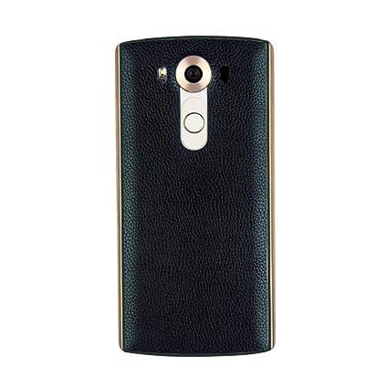 Tongshi Para LG V10,Cuero Qi cargador de carga inalámbrica Receptor caja de la pila + Pegatina Soporte NFC (azul)
