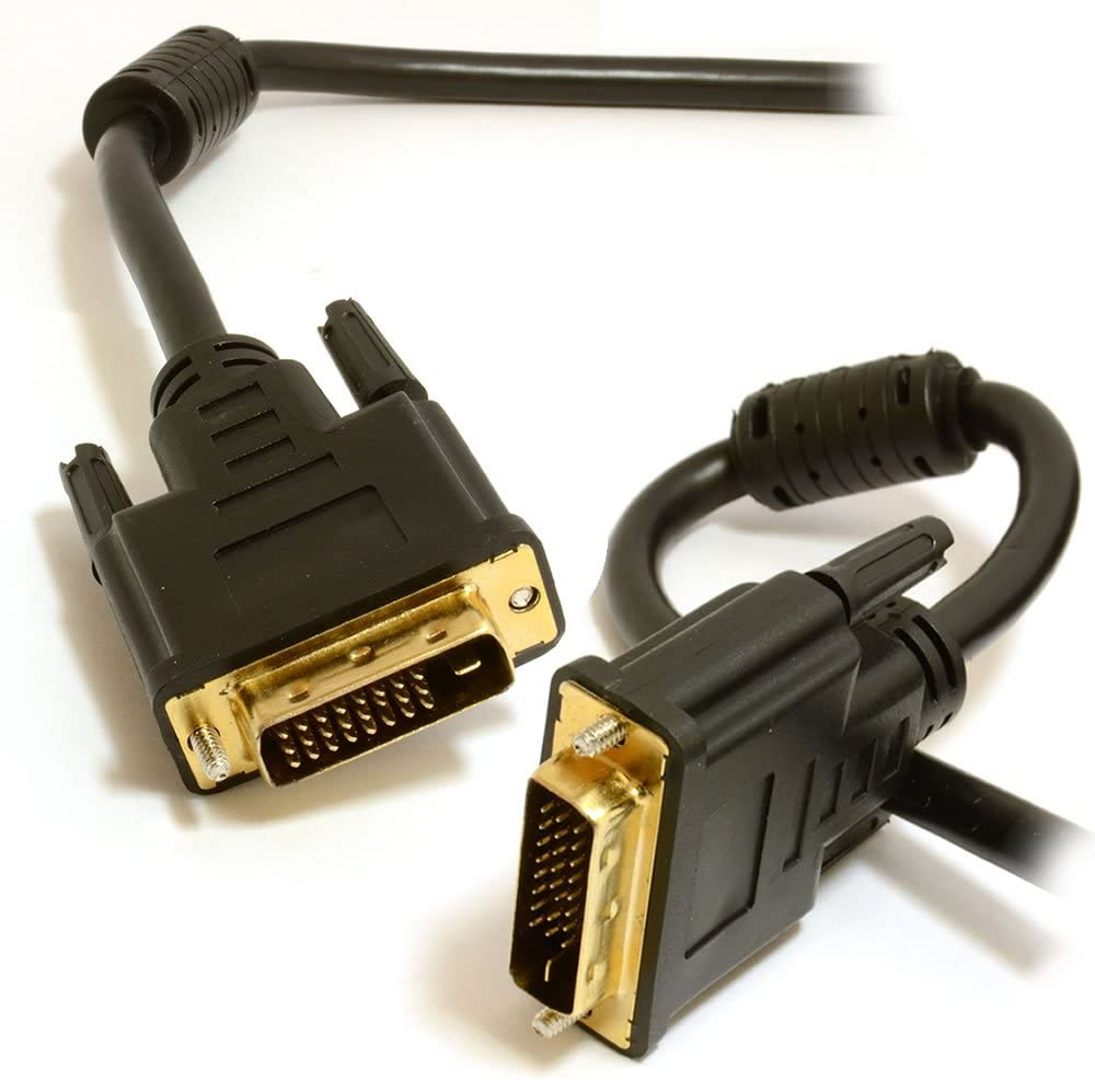 kenable DVI-D Dual Link with Ferrite Cores Male to Male Cable Gold 1m ~3 feet