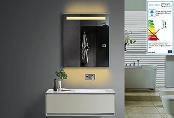 Lodovico Badezimmer Spiegel LED Beleuchtung Lichtfarbe wählbar 1 ...