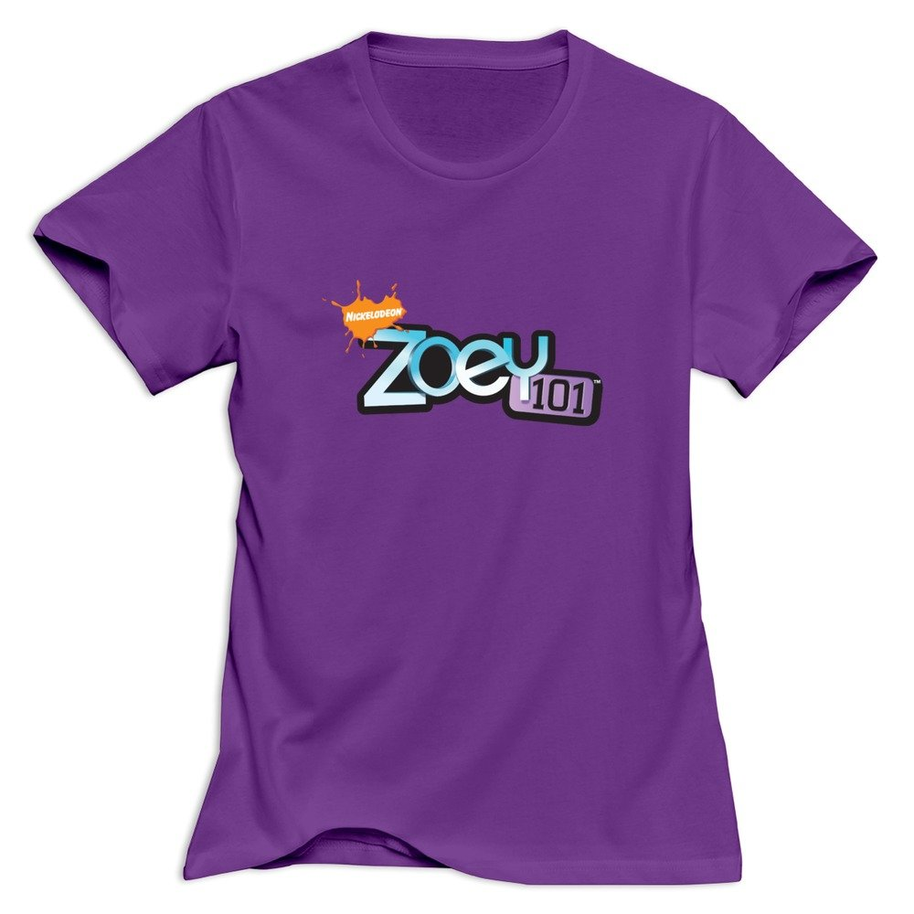 Zoey 101 Logo Nerdy 100 Cotton Purple T Shirts For Adult