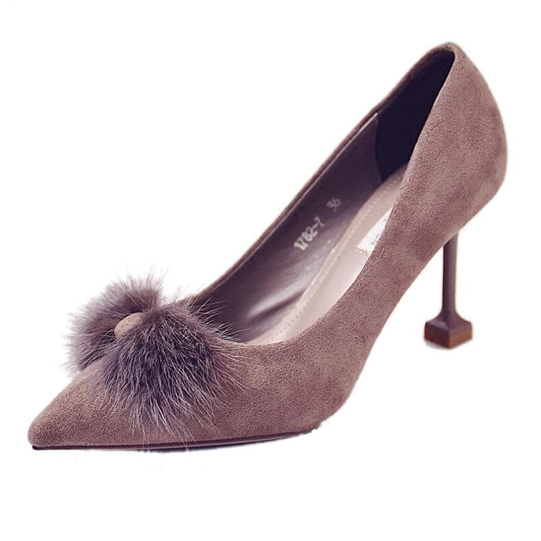 Versión Lovely Coreana Mink Esbelta Señaló Nueva De NegrosLzmshop Femenino Cat Qyyhuo top Y Tacón Zapatos YEDHe2bI9W