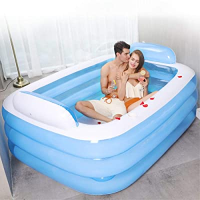Inflatable Swimming Pool, Inflatable Play Center, Thickened Swimming Pool Kiddie Pool for Baby Bath, Kids, Infant, Toddler, Adult, Family, Above Ground, Backyard, Outdoor: Arts, Crafts & Sewing