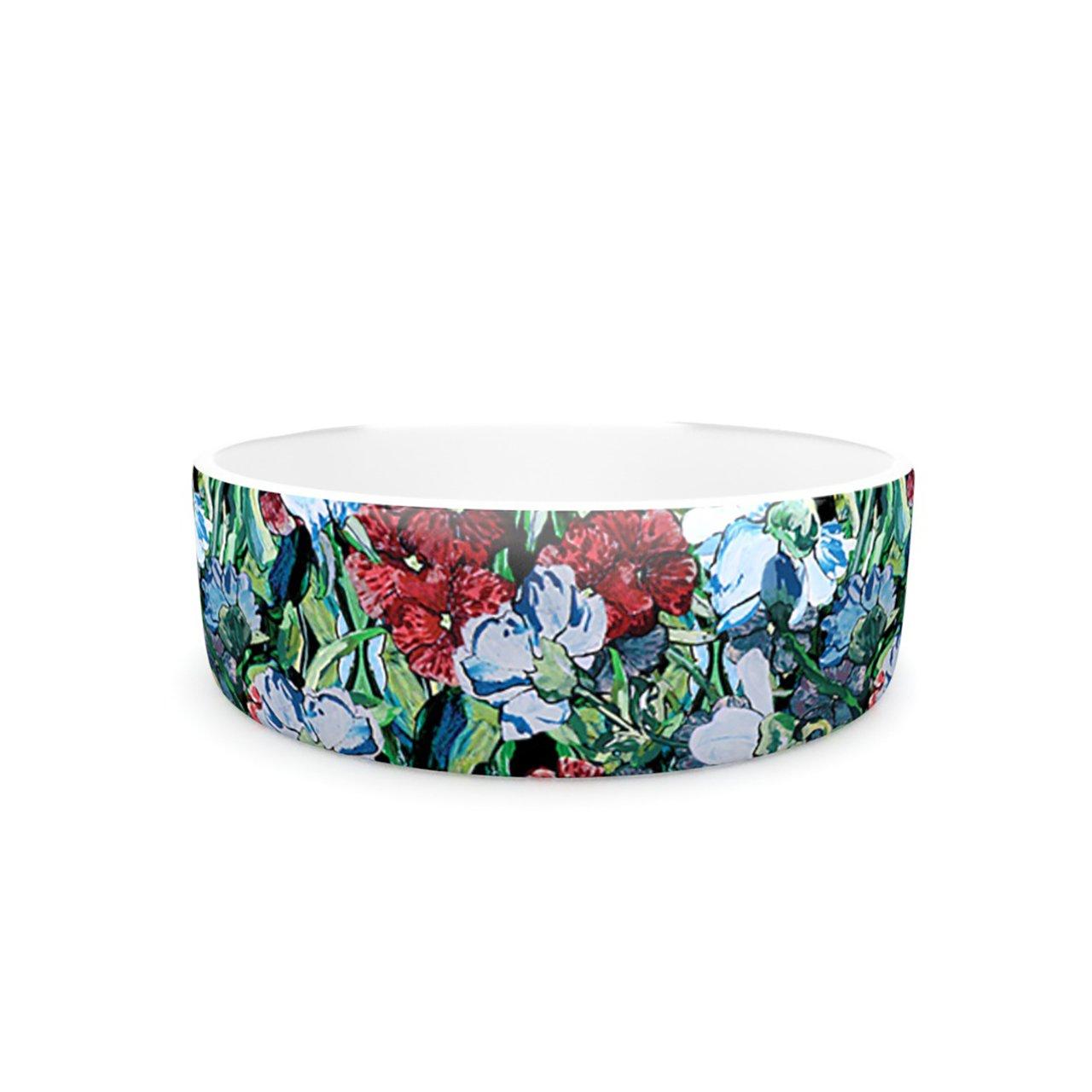 Kess InHouse DLKG Design Giardino  Pet Bowl, 7-Inch, Garden Flowers