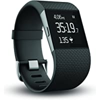 Fitbit Surge Fitness Super Watch w/Heart Rate Monitor (Black)