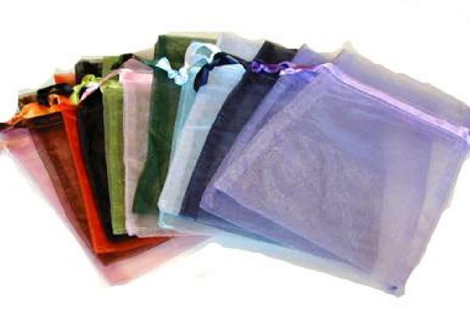Click Down 84pc Organza Large Mixed Jewelry Pouch Bags Display