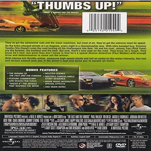 Amazon.com: The Fast and the Furious (Two-Disc Limited Edition): Vin Diesel, Paul Walker, Michelle Rodriguez, Jordana Brewster, Rick Yune, Ja Rule, ...