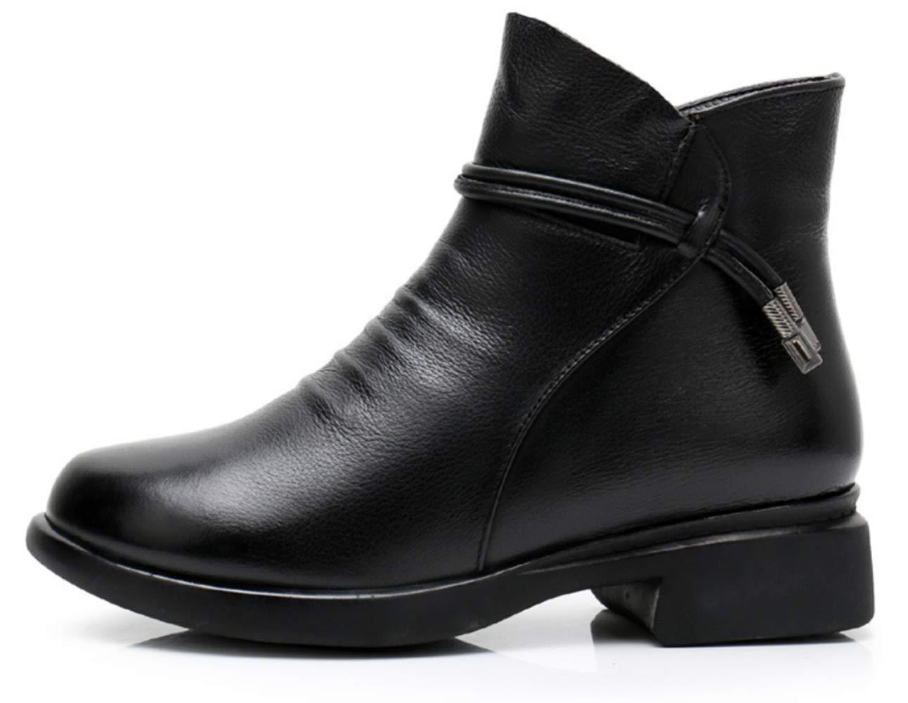Shiney Frauen Aus Echtem Leder Chelsea Stiefel Klobige Ferse Samt Stiefeletten Martin Stiefel Schwarz Herbst Winter