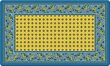 """Toland Home Garden 830006 French Paisley- Yellow 18"""" x 30""""  Recycled Mat, USA Produced"""