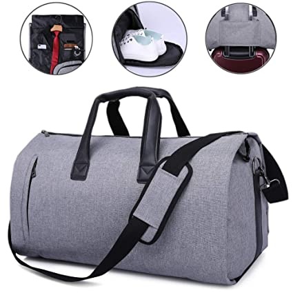 JoofEric Carry On Garment Bag for Travel   Business Carrier Luggage Cover  Duffel Bag with Shoe 9d0f7b284a1c8