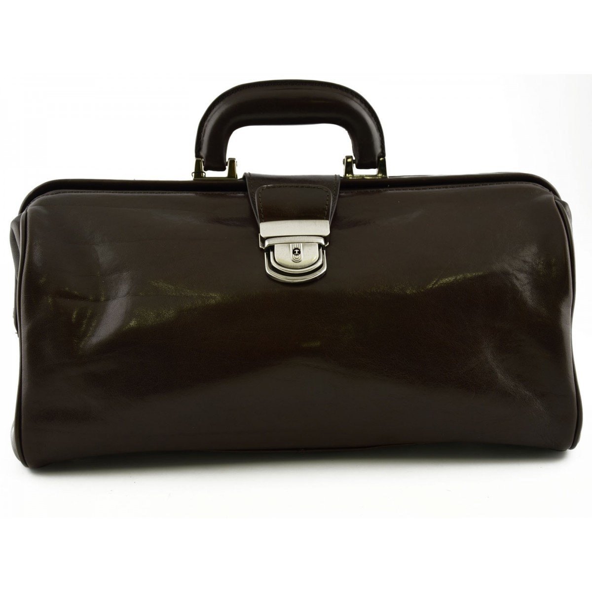 Made In Italy Genuine Leather Doctor's Bag Color Dark Brown - Business Bag   B01LFEO9N8