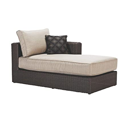 Home Decorators Collection Sectional Chaise With Putty Cushions Of Naples Featuring A Steel Frame And