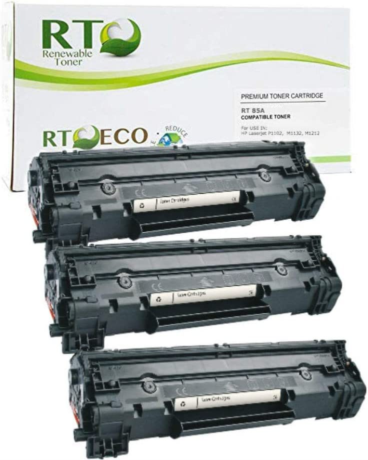 3PK Black Toner Cartridge for Hp CE285A 85A Laserjet Pro M1212NF P1109W Printers