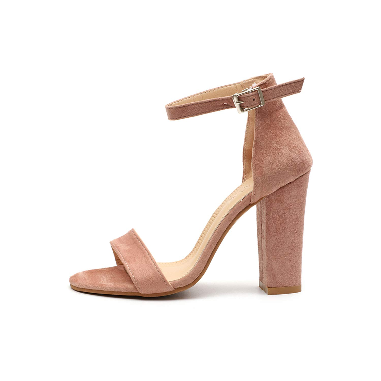 Pink LAIGEDANZI Pumps Heels Sandals for Women Summer shoes Wedding Heels