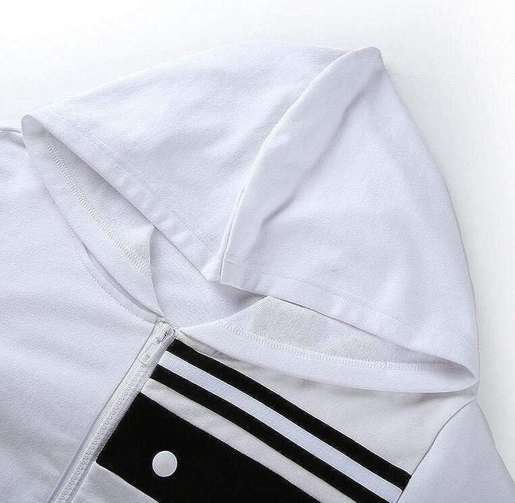 SHOWNO Womens Zip Front Color Block Long Sleeve Slim Short Hoodie Sweatshirt Jacket