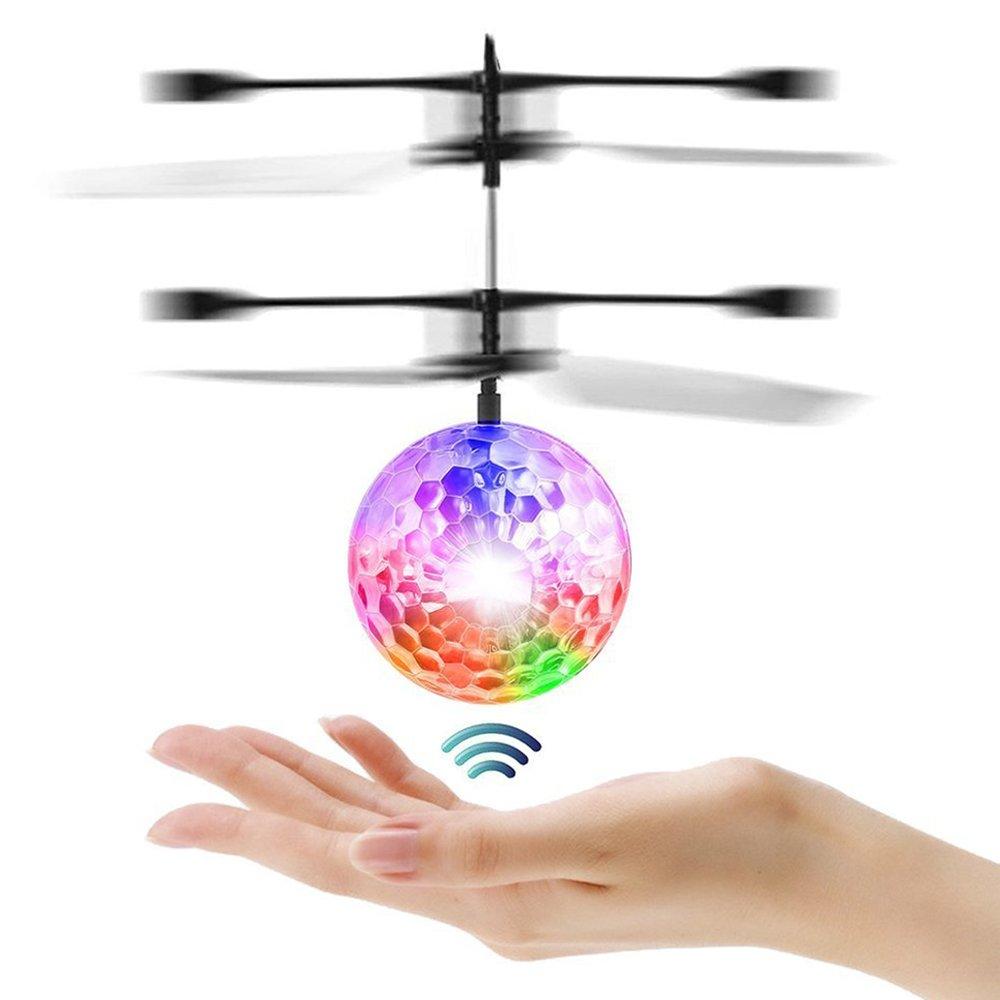Joy-Fun Juguetes de Niñ os Bola Voladora Flying Ball Juguetes al Aire Libre Mini Drone Regalos para Niñ as Adolescentes con Iluminació n LED Rojo Regalos de Cumpleanos Navidad