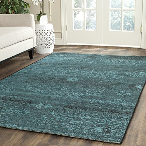 Safavieh Palazzo Collection PAL129-56C4 Black and Turquoise Area Rug (8' x 11') - 10' Vintage Velvet