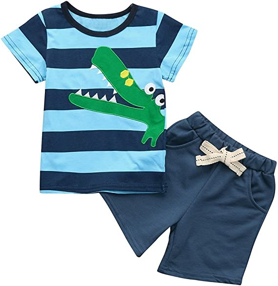 pantalon court 2pcs Bébé Garçons Vêtements été tenues Garçons Tenues Top Tee-shirt