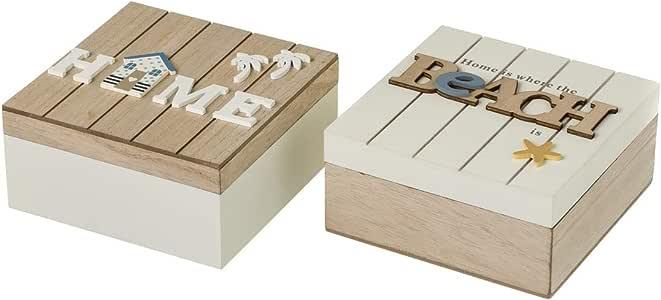 Caja joyero de Madera Blanca nórdica para decoración Fantasy - LOLAhome: Amazon.es: Hogar