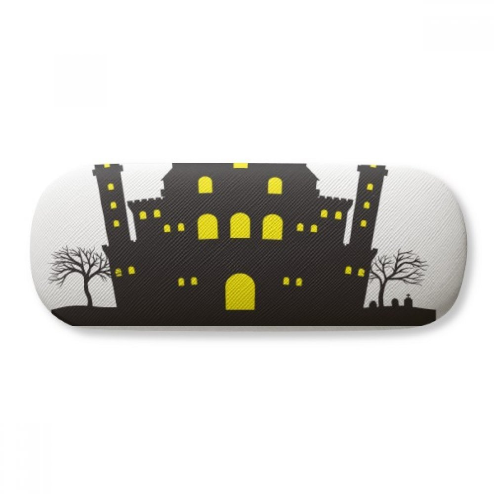 Halloween The Brightly Lit Castle Glasses Case Eyeglasses Clam Shell Holder Storage Box