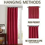 Velvet Curtain Burgundy Living Room Rod Pocket