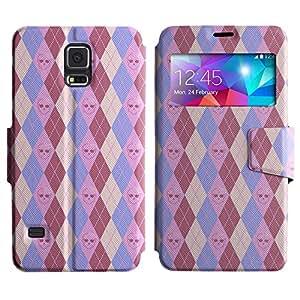 LEOCASE Pink Skull Funda Carcasa Cuero Tapa Case Para Samsung Galaxy S5 I9600 No.1001927