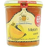 Confiture de Melon Vanillé Les Comtes de Provence riche en fruits et en goûts, cuite au chaudron traditionnel en Provence au sucre de canne, naturelle et sans conservateurs - Lot de 3 pots de 340 g