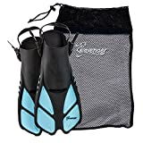 Seavenger Snorkeling Swim Fins with Bag (Dodger Blue, XS/XXS - Size 1 to 4 or Children 10-13)