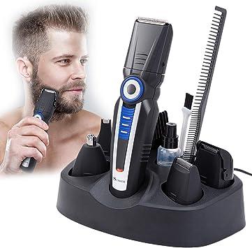 Cortapelos para hombres, cortapelos 5 en 1 barba recortadora ...