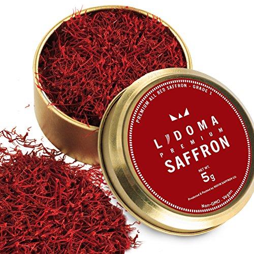 Lidoma Saffron, 5 Gram, Premium All Red, Grade 250+, Non-GMO