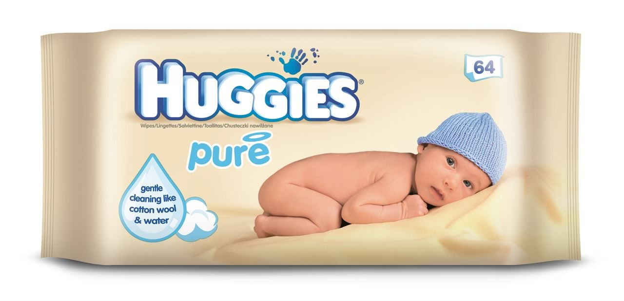 amazon com huggies pure baby wipes 64 pack health personal care