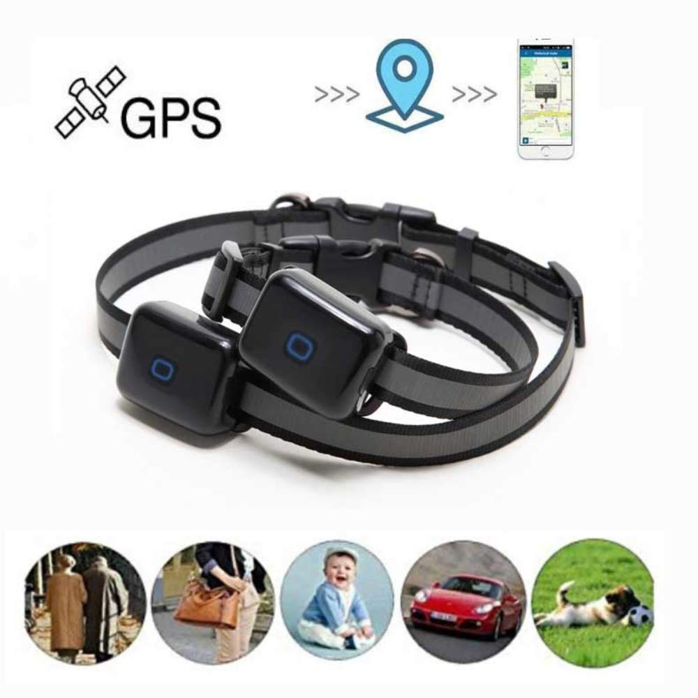 HUAXING Pets Mini GPS Tracker,Built-In Magnetism with 1000 Mah Electricity Standby 120 Hours Waterproof Tracking Device for Dogs Cats Pets.