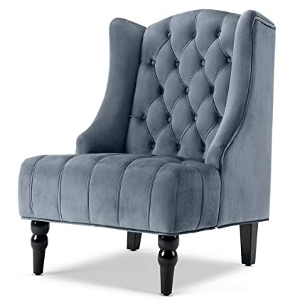 Amazon.com: Hebel Wingback Accent Chair Tall High Back ...
