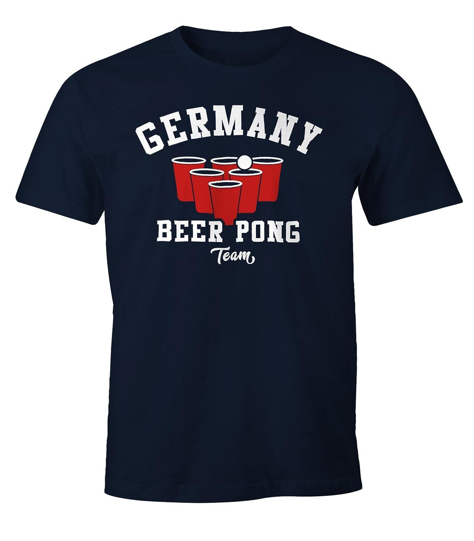 Herren T-Shirt Germany Beer Pong Team Bier Fun-Shirt Moonworks®: Amazon.de:  Bekleidung