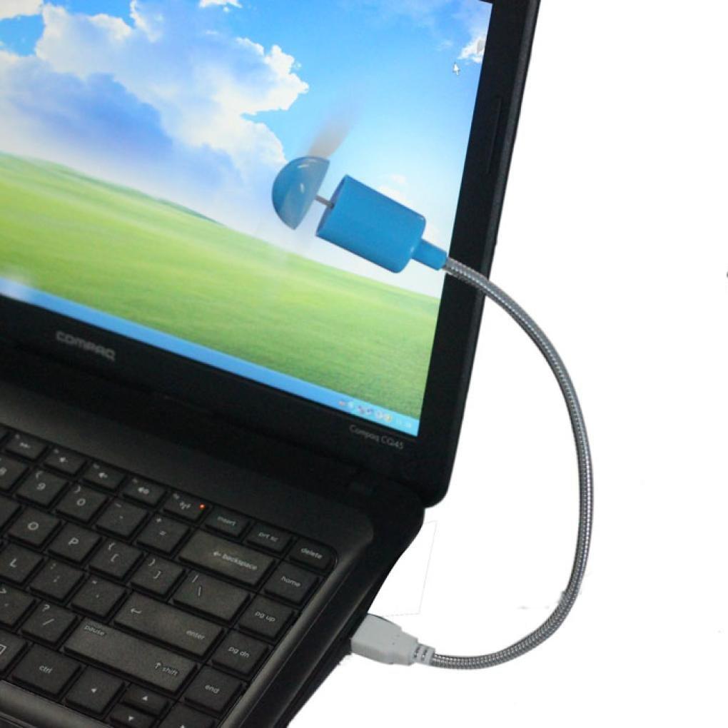 LandFox Flexible USB Mini Cooling Fan Cooler for Laptop Desktop PC Computer (Blue)