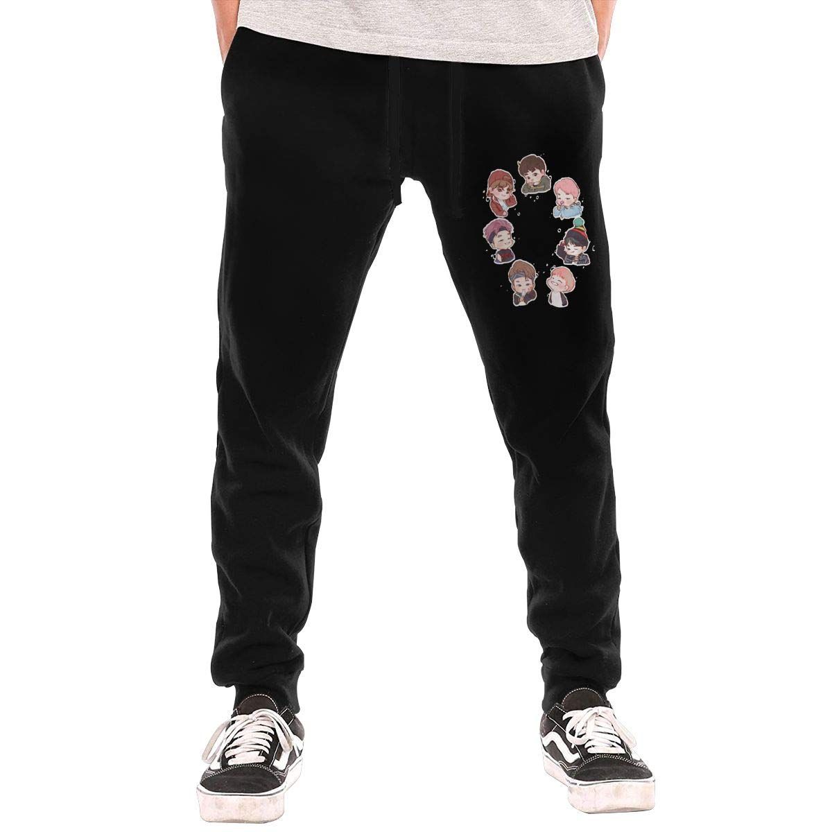 Kinggo Man Personalized BTS 7 Menbers Cool with Pockets Casual Pant Black