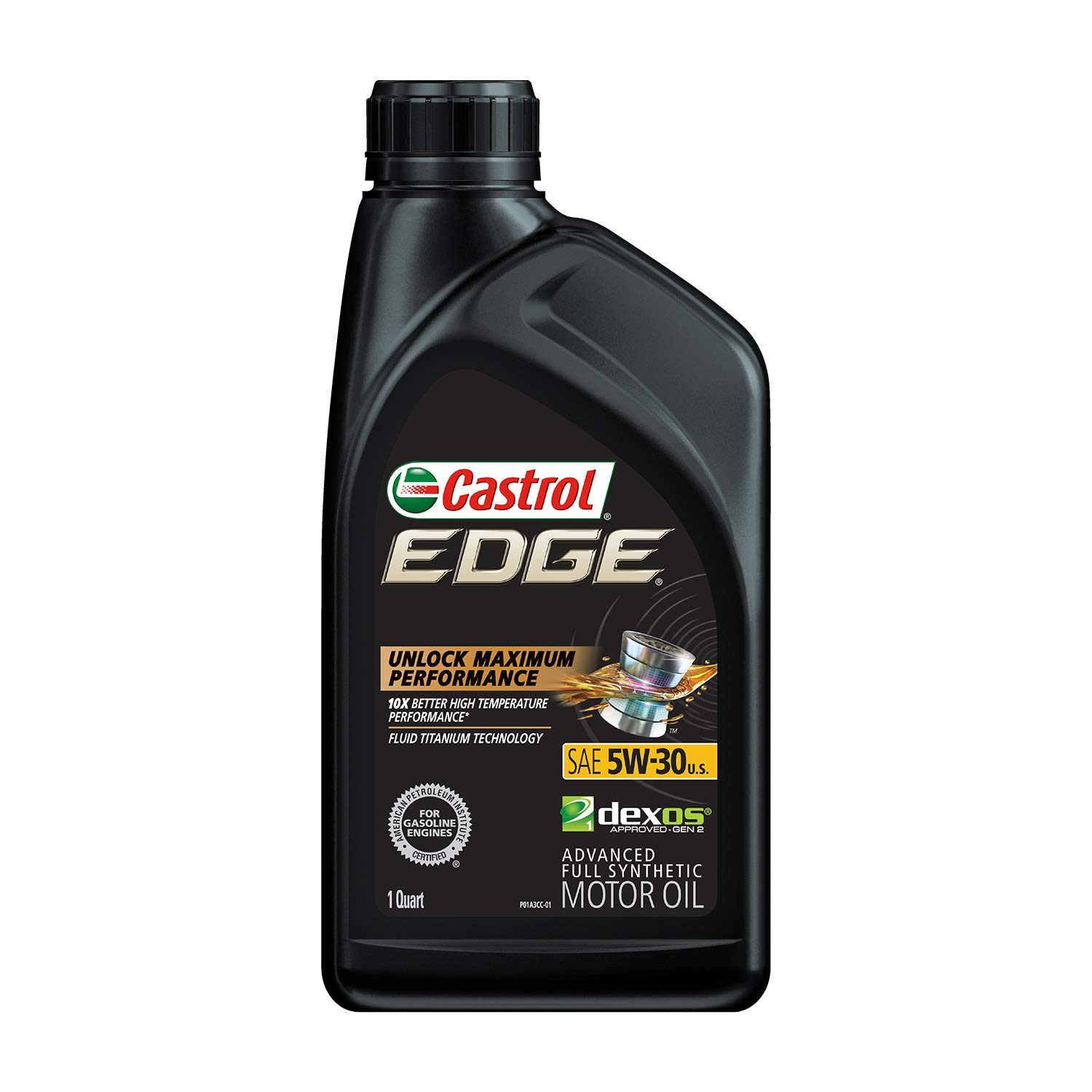 Castrol 06248 Edge 5W-30 Advanced Full Synthetic Motor Oil, 1 Quart, 6 Pack